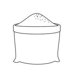 Bag of soil icon vector