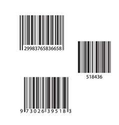 barcode and number icon vector image