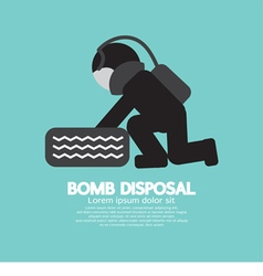 Black symbol bomb disposal vector