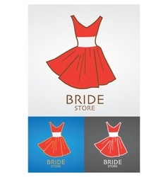 Bride Fashion Store Design Logo vector