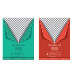 brochure flyer paper fold effect vector image