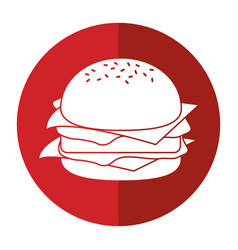Burger fast food shadow vector