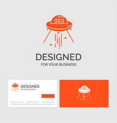 business logo template for space ship space ship vector image