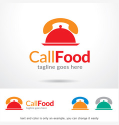 Call food logo template vector