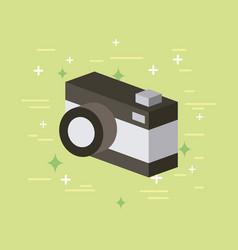 camera image flat vector image