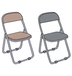 Camping chairs vector