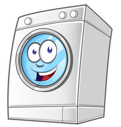 cartoon washing machine clip art with simple vector image