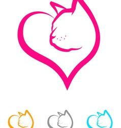Cat Heart vector image vector image