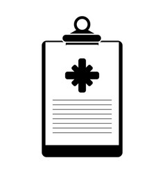 clipboard medical report clinic pictogram vector image