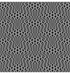 Design seamless monochrome wave pattern vector