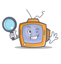 Detective tv character cartoon object vector