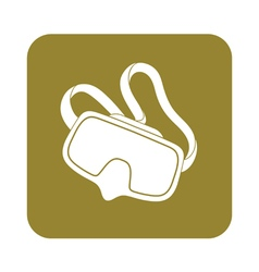Diving mask icon isolated vector