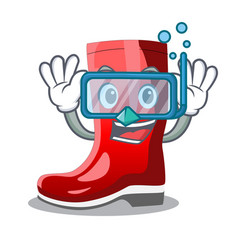 Diving single of boots isolated on mascot vector