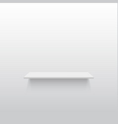 Empty white shelf on a gray wall vector image vector image