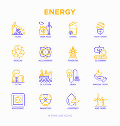 Energy thin line icon vector