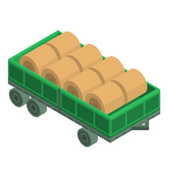 farm trailer icon isometric style vector image