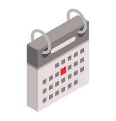 festive date calendar icon isometric style vector image
