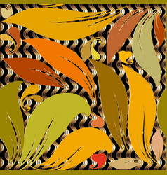 floral autumn leaves abstract paisley seamless vector image