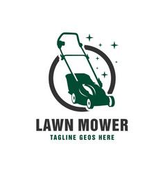 garden lawn mower logo vector image