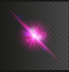 Glowing neon lights line vector