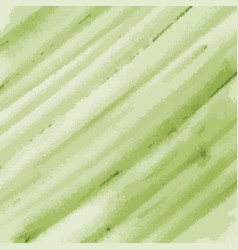 Green watercolor texture background striped vector