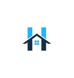 h letter house logo icon design vector image