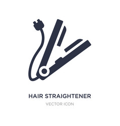 Hair straightener icon on white background simple vector