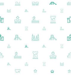 Historical icons pattern seamless white background vector