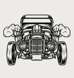 Hot rod custom car concept vector