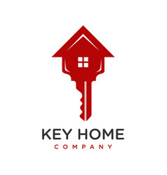 house key logo design vector image