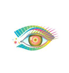 Human eye graphic design modern trendy pop art vector
