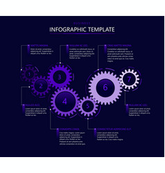 Infographic template with gears vector