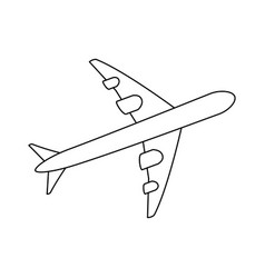 isolated big airplane vector image