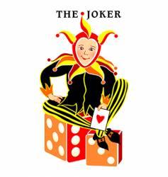 joker playing card vector image
