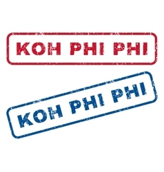 Koh Phi Phi Rubber Stamps vector