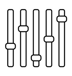 levels icon isolated on white background vector image