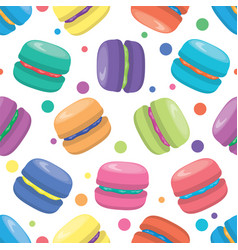 Macaron seamless pattern vector