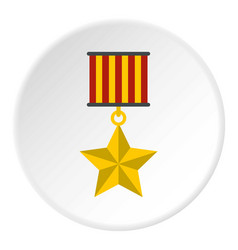 medal star icon circle vector image