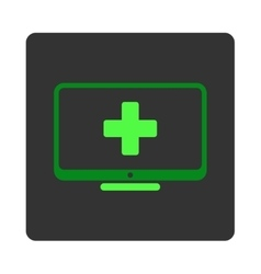 Medical Monitor Flat Button vector