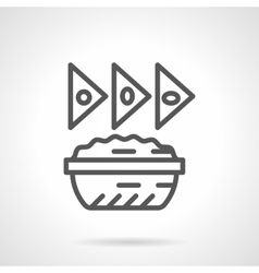 Nachos icon black line icon vector image