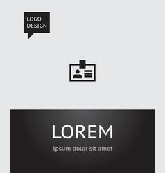 of bureau symbol on badge icon vector image