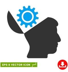 Open Head Gear Eps Icon vector