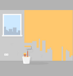 painting or improvement home room or apartment vector image