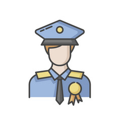 Police officer rgb color icon vector