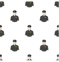 Policemanprofessions single icon in cartoon style vector