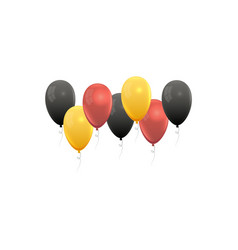 realistic balloons in germany national colors vector image