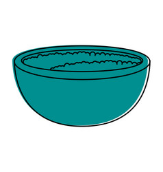 Rice bowl foood vector