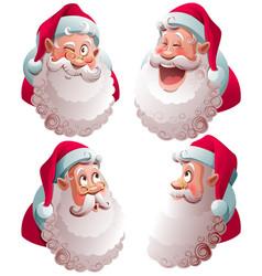 Santa claus head set isolated vector