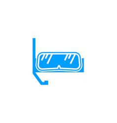 Scuba diving sport logo design concept vector
