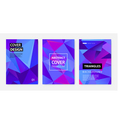set abstract geometric covers banners vector image